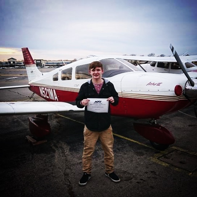 Sergey Kogan completed his first solo flight in N294ME